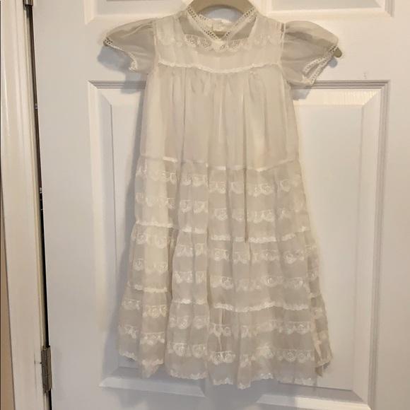 Antique, handmade christening dress.